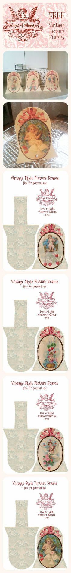 Free printable from Wings of Whimsy: Vintage Style Picture Frames - free for personal use