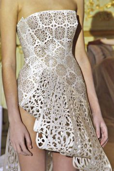 Dress from Rami Al Ali  Haute Couture Spring/Summer 2012 is almost like laser cut paper art!