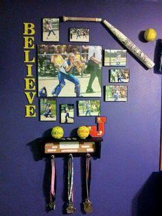 Softball room decor
