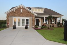 Spacious, single-story craftsman style, Dalton model at Clear Pond.  Myrtle Beach homes for sale.  #clearpond