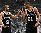 """For Sale  - Tim Duncan Tony Parker San Antonio Spurs Signed 8x10"""" Photo Autograph Reprint"""
