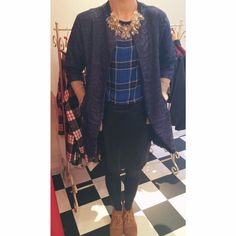 SALE blue check top, now just £10 and blue SALE jacket, now only £20!!