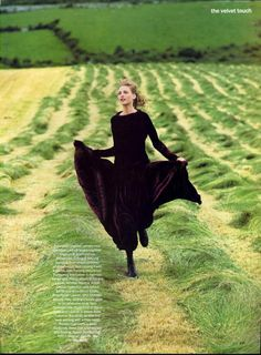 Nadja Auermann | Photography by Arthur Elgort | For Vogue Magazine US | September 1993