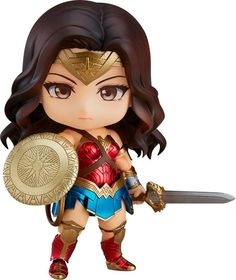 From Good Smile. From the hit movie Wonder Woman comes a Nendoroid of the most powerful female super hero ever: Wonder Woman herself. Wonder Woman Art, Wonder Woman Chibi, Wonder Woman Movie, Wonder Women, Chibi Marvel, Super Heroine, Avengers Cartoon, Superhero Cartoon, Hero Movie