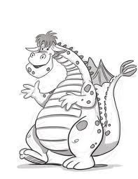Happy dragon coloring page | School--Room Theme: Kings & Queens ...