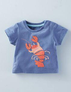 T-Shirt mit großer Applikation
