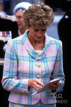 Princess Diana. I Like The Colors In The Suit She Is Wearing.
