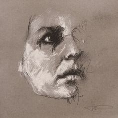 Steps for Portrait Drawing with Charcoal - Drawing On Demand Life Drawing, Drawing Sketches, Painting & Drawing, Watercolor Paintings, Art Drawings, Sketching, Illustrations, Illustration Art, Charcoal Art