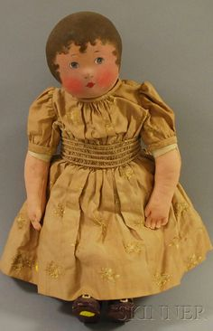 Cloth Head and Body Doll | Sale Number 2530M, Lot Number 1032 | Skinner Auctioneers