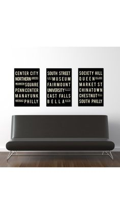 Office decor - love the philly art