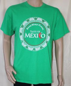 Taste of Mexico - Savor World Flavor Large Green T-Shirt #Gildan #GraphicTee