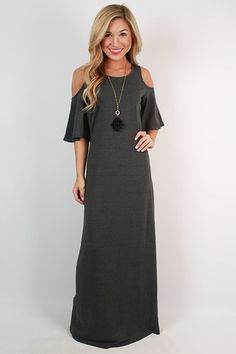 This maxi is a guaranteed showstopper! Wear it with dangling earrings for a look that will bring the house down!