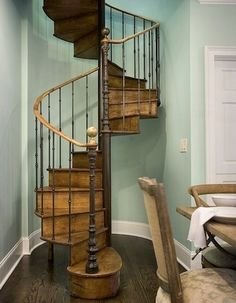 This Wood Spiral Staircase Is So Cool. I Love Spiral Staircases So Much
