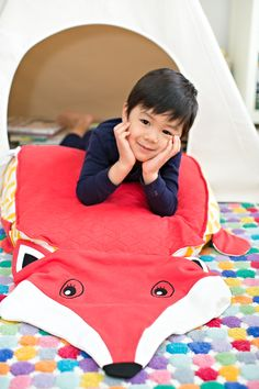 Cute Animal Playmats from Peripop Double as Fun Blankets or Cushions.