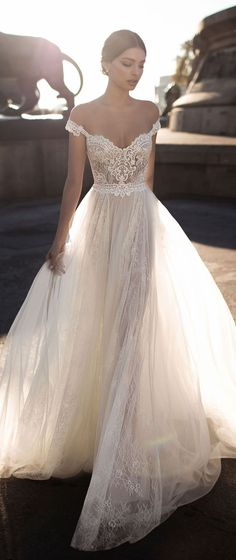 "Elihav Sasson 2018 Wedding Dresses — ""Vintage Jewellery"" Bridal ..."