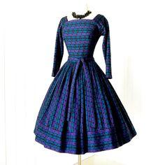 vintage 1950's dress ...fabulous dior inspired SUZY by traven7