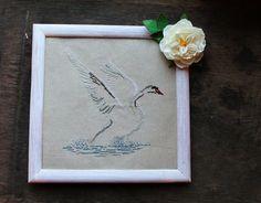 Cross stitch pattern swan minimalizm art abstract by LaMariaCha
