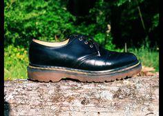 90s DOC MARTEN Black Oxford Brogue Shoes Ankle Booties, Uk 4 Us 6.5 unisex. $60.00, via Etsy.