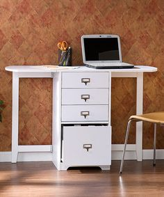 Take a look at this White Fold-Out Organizer & Craft Desk by Southern Enterprises on #zulily today!