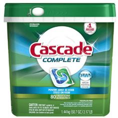 Cascade Complete ActionPacs Dishwasher Detergent, Fresh Scent, 78 Powers away stuck-on messes - no pre-wash needed ActionPacs with the grease-fighting power of Dawn Best Dishwasher Detergent, Dishwasher Pods, Laundry Detergent, Cascade Dishwasher, Dish Detergent, Co Marketing, Bathtub Drain, Septic System, Cleaning Supplies