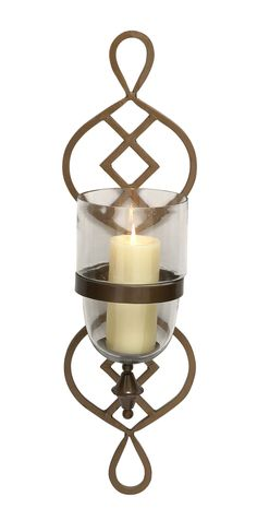 Breathtaking Metal Glass Candle Sconce