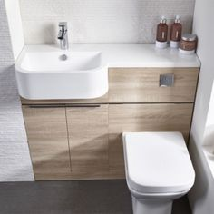The new Tavistock Match range provides the perfect solution for small bathrooms. Their efficient design of this furniture run creates an effortlessly stylish look for your bathroom. The compact basin, along with the back to wall unit, complime Very Small Bathroom, Compact Bathroom, Bathroom Design Small, Bathroom Interior Design, Bathroom Storage, Modern Bathroom, Bathroom Designs, Gold Bathroom, Designs For Small Bathrooms