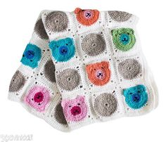 Virkattu peitto nallekuvioilla - tee vaunupeitto vauvalle tai vaikkapa sängynpeitto lastenhuoneeseen. Knitted Blankets, Knit Crochet, Diy And Crafts, Knitting, Baby, Kids, Crochet Ideas, Crocheting, Google