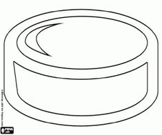 An ice hockey puck coloring page