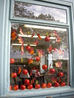 Autumn shop window