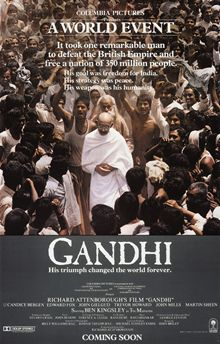 Gandhi is a 1982 epic biographical film which dramatises the life of Mohandas Karamchand Gandhi, the leader of India's non-violent, non-cooperative independence movement against the United Kingdom's rule of the country during the 20th century. Gandhi was written by John Briley and produced and directed by Richard Attenborough. It stars Ben Kingsley in the titular role.