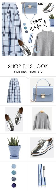 """""""Casual weekend"""" by lacas ❤ liked on Polyvore featuring House of Holland, Chive, Terre Mère, Estée Lauder, casual, weekend, plaid, CasualChic and shein"""