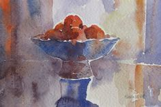 £35. Pomegranates. Watercolour. 5x7in. https://www.mariaoneill.co.uk/