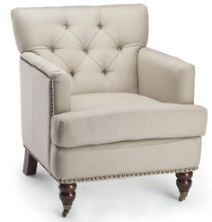 Safavieh Home Furnishings - Colin Tufted Tub Chair - Cream, $495.00 (http://www.safaviehhome.com/casual-accent-chairs-colin-tufted-tub-chair-cream/hud8212a)