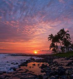Poipu, Kauai   Poipu Sunset by mojo2u, via Flickr