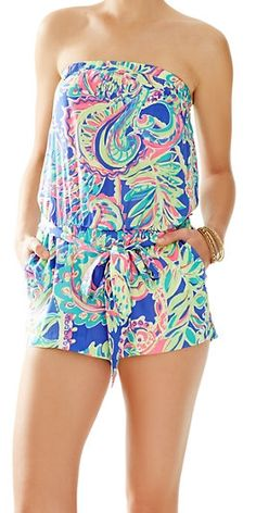 Lilly Pulitzer Ritz Strapless Romper in Toucan Play