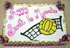volleyball bday cake