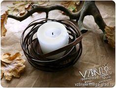 """Подсвечники деревянные """"Гнездышки"""" - изделия из дерева, дизайнерский подсвечник для интерьера. МегаГрад - авторская ручная работа"""