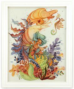 Zodiac Sign: Pisces Framed Watercolor Original $600 #alinachau #constellationtales