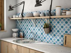 Merola Tile Caprice Colours Sapphire Encaustic in. Porcelain Floor and Wall Tile sq. / - The Home Depot Encaustic Tile, Splashback, Tile Patterns, Floor Patterns, Kitchen Backsplash, Backsplash Design, Moroccan Tile Backsplash, Kitchen Lamps, Porcelain Tile