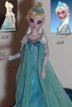 Evil Elsa OOAK doll by lulemee.deviantart.com on @deviantART