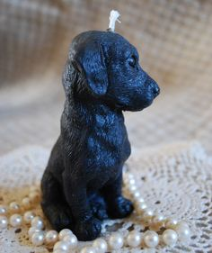 Beeswax Candle Adorable Pure Beeswax Black by PeaceBlossomCandles Unique Candles, Best Candles, Custom Candles, Black Labs Dogs, Candle Maker, Beeswax Candles, Labrador Retriever, Retriever Puppies, Dogs And Puppies