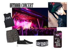 """Concert date with Jimin"" by mariacristina-iii ❤ liked on Polyvore featuring Dorothy Perkins, Pedder Red and Disney"