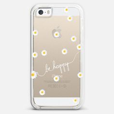 HAPPY DAISY CRYSTAL CLEAR iPhone 5s case by Monika Strigel