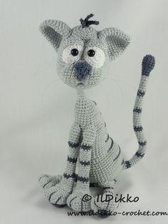 Kit the Cat - Amigurumi Crochet Pattern by IlDikko on Etsy