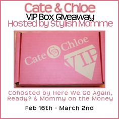 Cate & Chloe VIP Box Giveaway Hosted by Stylish Momme Co-hosted by Here We Go Again, Ready? Mommy on the Money Bubby's Mommy Sponsored by Cate & Chloe Cate & Chloe began with the simple idea of creating stylish, yet affordable jewelry that women could wear every day, no matter the occasion. Whether you're looking …