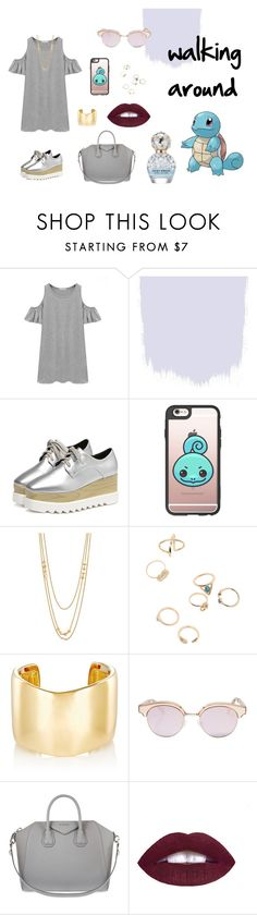 """Walkin Around - Squirtle"" by ilaria15 on Polyvore featuring moda, Chicnova Fashion, Casetify, Gorjana, Jennifer Fisher, Le Specs, Givenchy e Marc Jacobs"