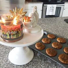 My favorite candle burning, this little cool front, pumpkin chocolate chip muffins and footb... @liketoknow.it www.liketk.it/1KPb3 #liketkit