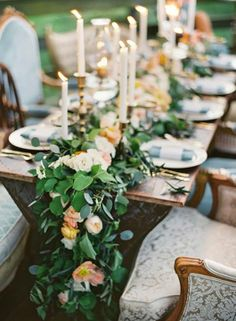 Would be easy to do with faux greenery and real flowers