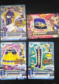 "Trading card of Japanese Idol Animation ""AIKATSU"" Topaz command coord 2"