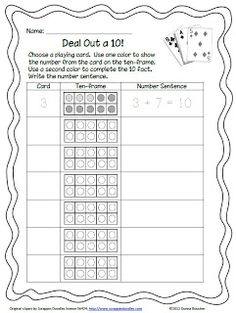 Classroom Freebies Too: Deal Out a 10